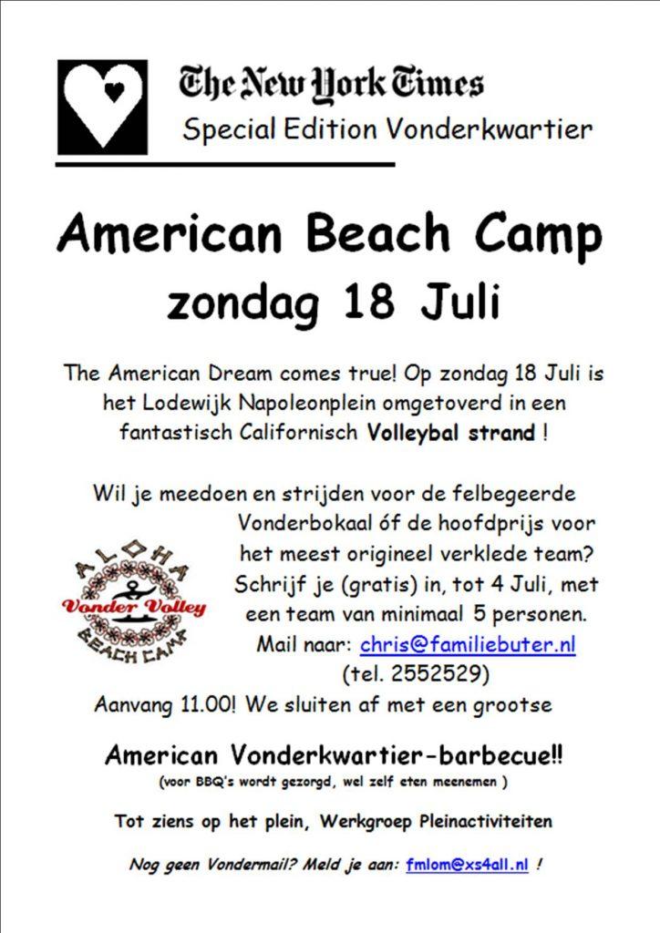 American Beach Camp Volleyball