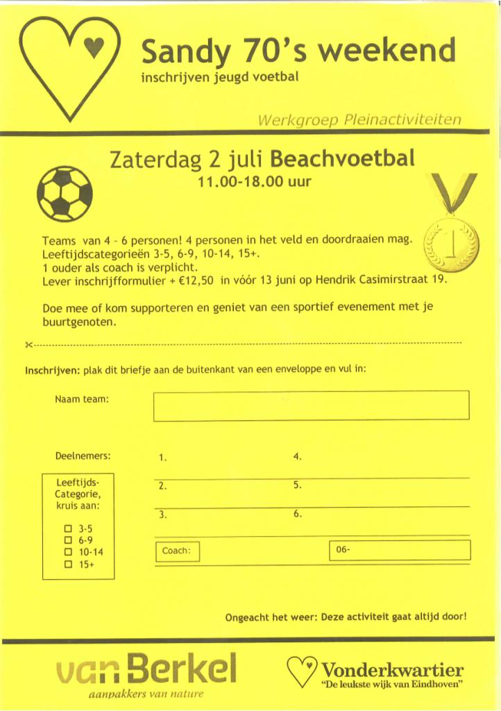Beach-Voetball-Inschrijving